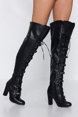 Nasty Gal It's Secured Buckle Over-the-Knee Boot