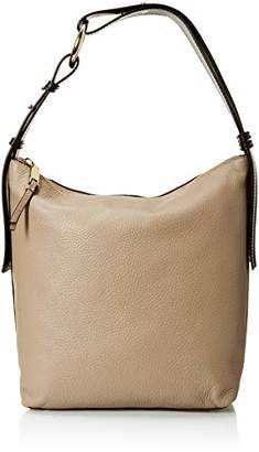 Calvin Klein womens Liana Pebble Leather Belted Top Zip Slouchy Hobo