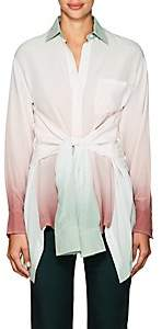 Sies Marjan Women's Nellie Gradient Silk Blouse - Deg Mauve Seafoam