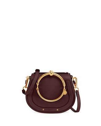 Chloé Nile Small Leather Ring-Handle Satchel Bag
