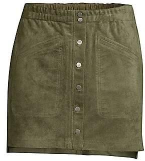b941d71e8e BCBGMAXAZRIA Women's Faux-Suede Mini Skirt