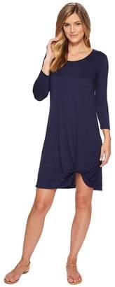 Mod-o-doc Soft Crinkle Jersey 3/4 Sleeve Twist Hem Dress Women's Dress