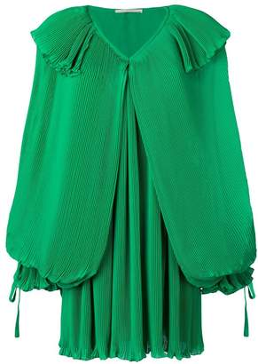 Marco De Vincenzo pleated balloon sleeves dress