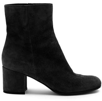 Gianvito Rossi Margaux 60 Suede Ankle Boots - Womens - Black