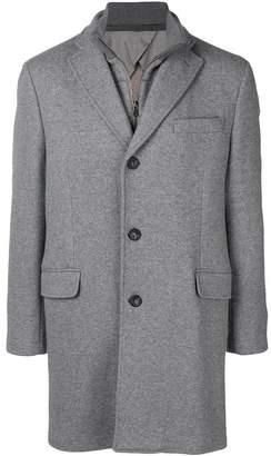 Hackett zipped single breasted coat