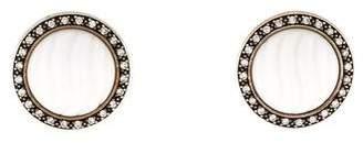 David Yurman Sculpted Agate & Diamond Earclips