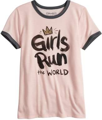 Mudd Girls 7-16 & Plus Size Ringer Graphic Tee