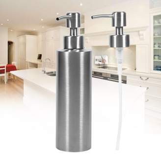 HURRISE 350ml Stainless Steel Soap Dispenser,Soap Dispenser Kitchen Sink Faucet Bathroom Shampoo Box Soap Container