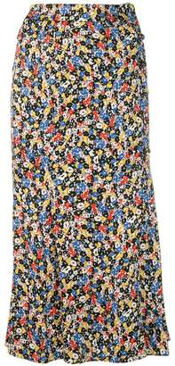Veronica Beard floral print midi skirt