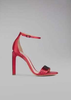 Giorgio Armani Sandals With Satin Heel
