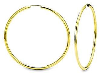 Amor Women's Creole Earrings 333 Yellow Gold - 157902