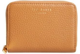 Ted Baker Mini Illda Zip-Around Leather Clutch