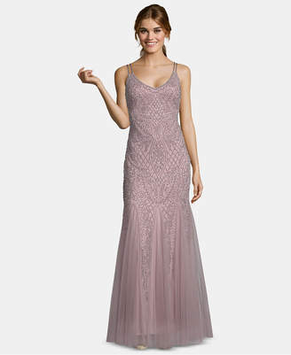 Xscape Evenings Embellished Mesh Gown