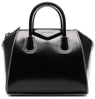 Givenchy Small Smooth Shiny Leather Antigona with White Details