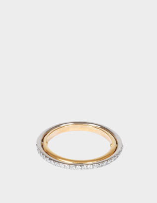 Charlotte Chesnais Elipse Ring in Yellow and White 18K Gold and Diamonds