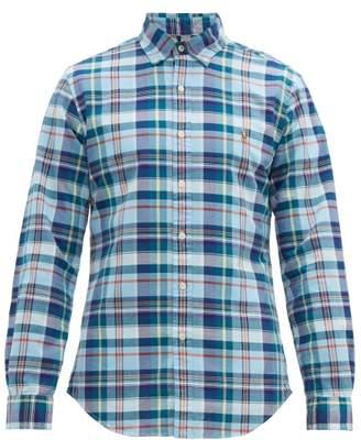 581016101 Polo Ralph Lauren Slim Fit Checked Cotton Shirt - Mens - Blue