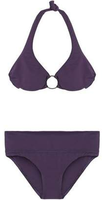 Melissa Odabash Embellished Cutout Halterneck Bikini