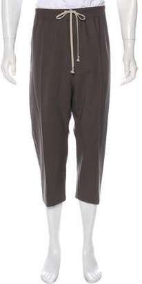 Rick Owens Wool Drop-Crotch Cropped Pants