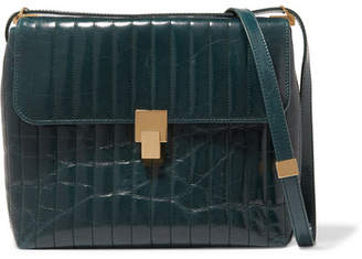 Victoria Beckham Quinton Quilted Leather Shoulder Bag - Petrol