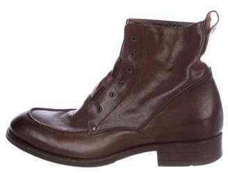 To Boot Leather Ankle Boots