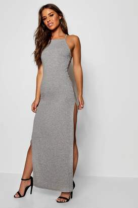 boohoo Petite Lana Column Style Square Neck Maxi Dress