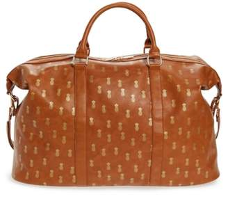 Sole Society Tulum Pineapple Print Weekend Duffel Bag