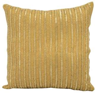 Nourison Michael Amini Beaded Stripes Gold Throw Pillow
