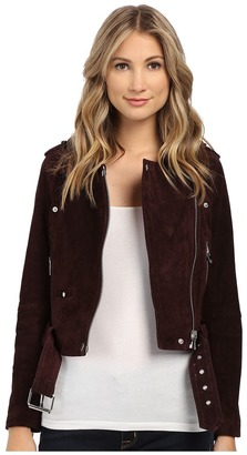 Blank NYC - Burgundy Suede Moto Jacket in Morning After Women's Coat $198 thestylecure.com