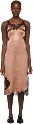 Helmut Lang Beige Lace Slip Dress