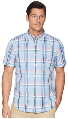 Nautica Short Sleeve Casual Plaid Shirt Men's Short Sleeve Button Up