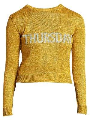Alberta Ferretti Rainbow Week Capsule Days Of The Week Thursday Sweater