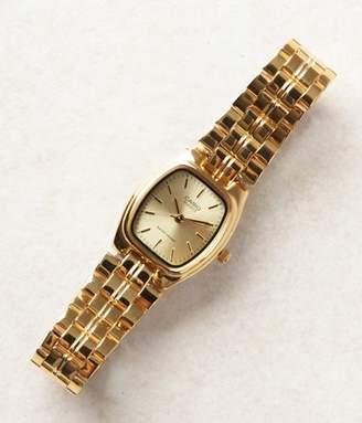 Casio (カシオ) - レディーススクエアアナログ腕時計(ゴールド)