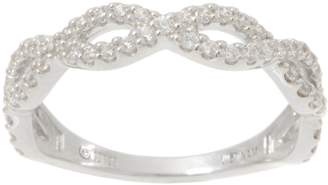 Diamonique Infinity Band Ring, Sterling