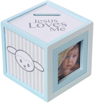 Precious Moments Precious Lamb Jesus Loves Me Photo Cube Bank, Boy