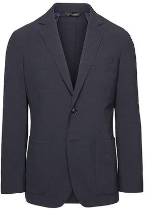 Banana Republic Slim Smart-Weight Performance Wool Blend Seersucker Suit Jacket