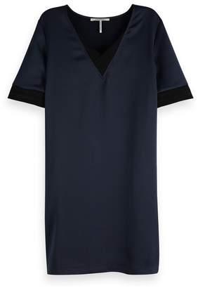 Maison Scotch V-Neck Short-Sleeved Short Dress