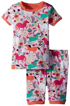 Hatley Roaming Horses Short Pajama Set Girl's Pajama Sets