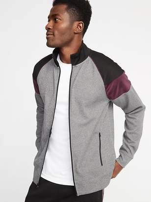 Old Navy Go-Dry Color-Block Velour-Trim Track Jacket for Men