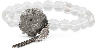 Made In Usa Handcrafted In California Crystal Quartz Druzy Bracelet
