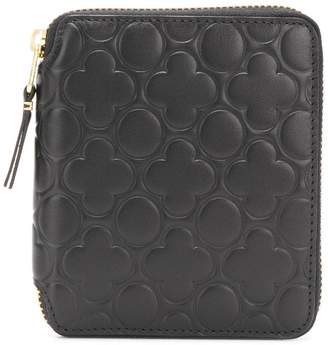 Comme des Garcons embossed leather zip around wallet