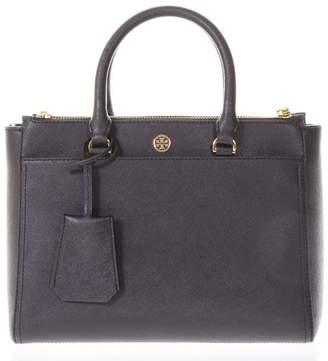 Tory Burch Robinson Black Leather Tote Bag