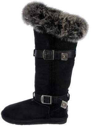 Australia Luxe Collective Shearling-Trimmed Tsar Boots