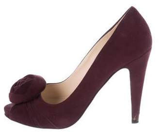 Prada Suede High Heel Pumps