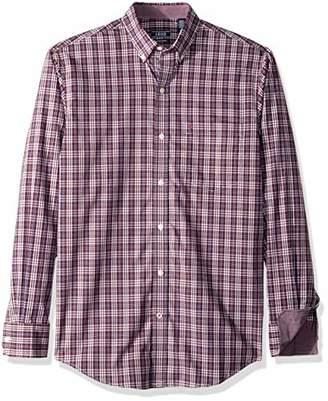 Izod Men's Essential Plaid Long Sleeve Shirt