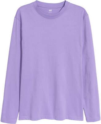 H&M Long-sleeved Shirt Loose fit - Purple
