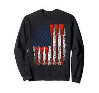Hunter Patriotic Archery American Bow Hunting Simple US Flag Sweatshirt