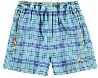 Slazenger Kids Check Shorts Pants Trousers Bottoms Infant Boys Lightweight