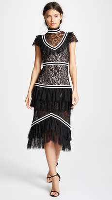 Alice + Olivia Annetta Ruffle Dress