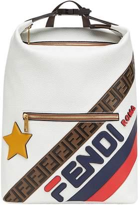 Fendi FendiMania panelled lettering logo backpack