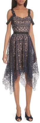 Self-Portrait Harness Strap Lace Dress